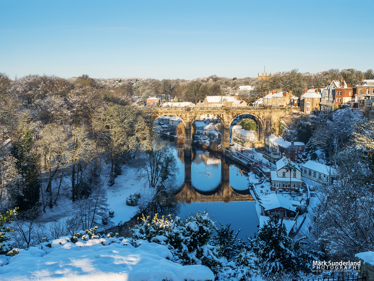 Knaresborough Viaduct in Winter